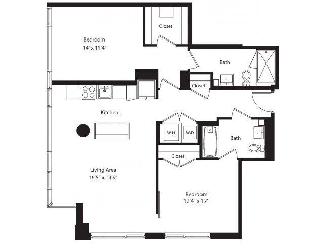 Two Bedroom Floor Plan Unit Plans Two Bedroom Floor Plan Bedroom Floor Plans Floor Plans