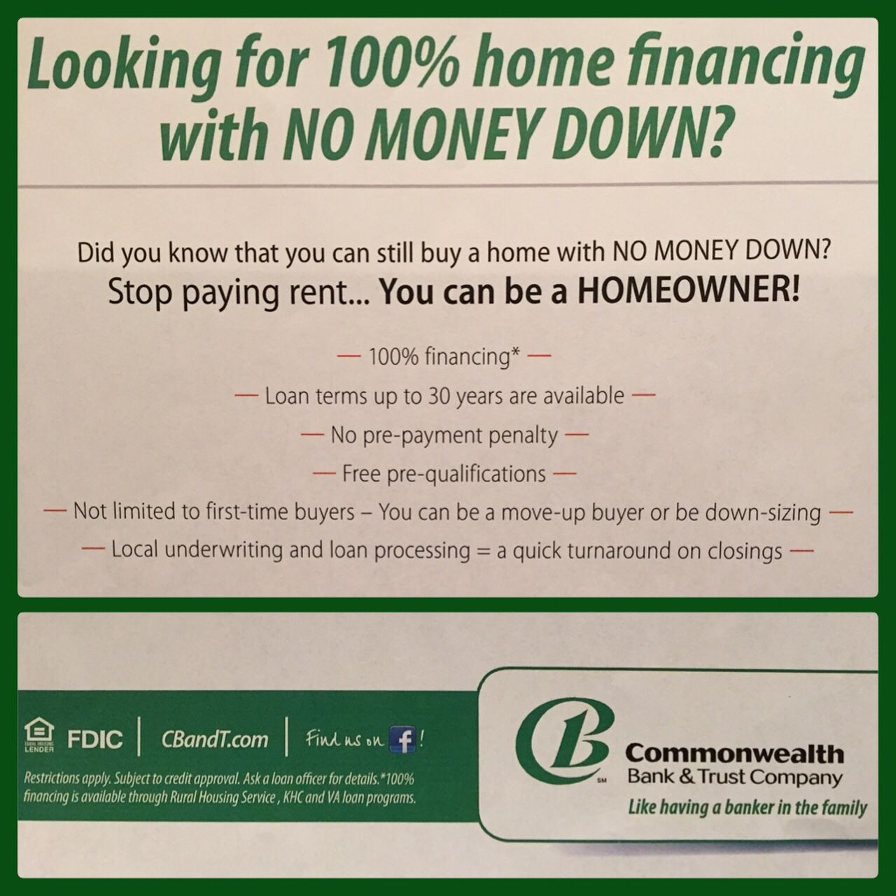 Mortgage Directory Mortgage Commonwealth Bank Trust Finance Loans Banking Services Commonwealth Bank