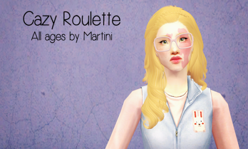 Cazy Roulette - All ages, gray linked to black Remi - DOWNLOAD / ALT DOWNLOAD Poppet - DOWNLOAD / ALT DOWNLOAD Credits: Remi, Poppet, Martini, Cazy