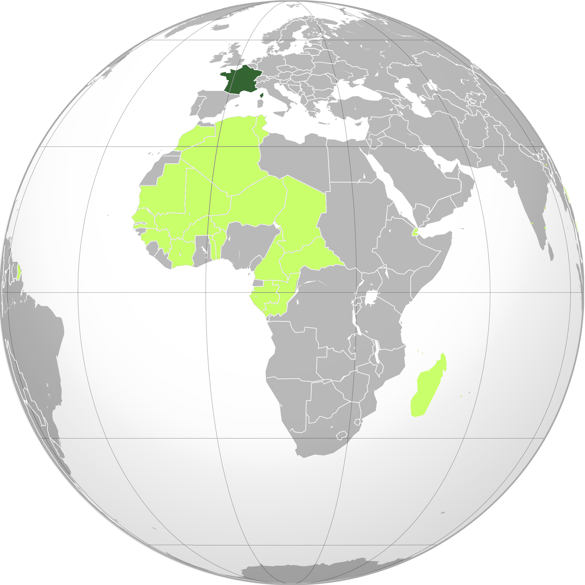 Dark Green Fourth French Republic Light Green French