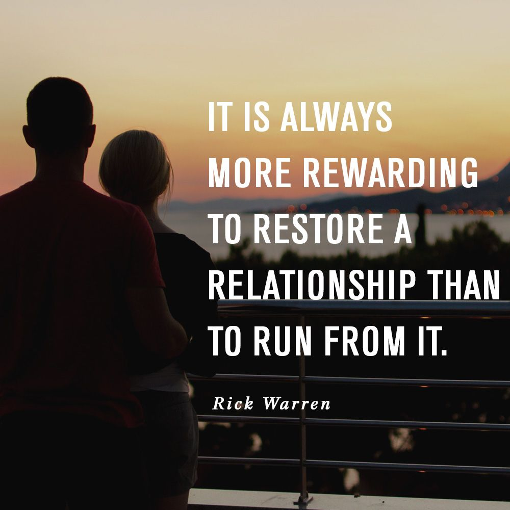How to restore the relationship