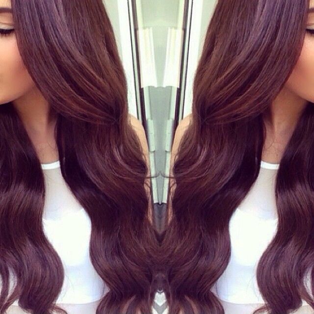 Soft Burgundy Hair Color Long Hair Hairdoos Pinterest