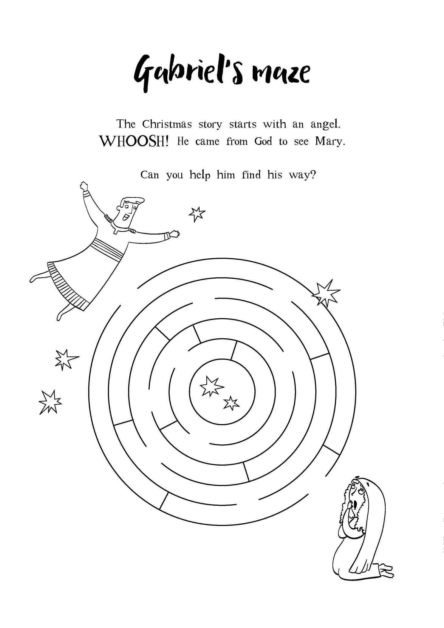 16 Mary And Angel Preschool Worksheet In