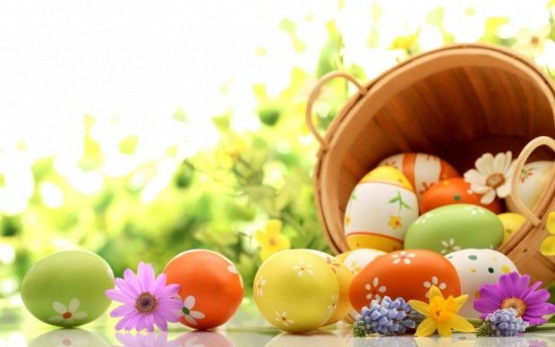 Superb Easter Eggs Holiday Wallpaper
