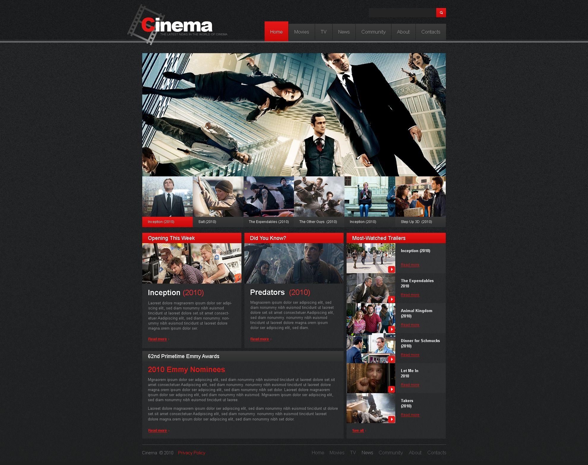30725_01home_big | Movie Website | Pinterest | Movie website ...