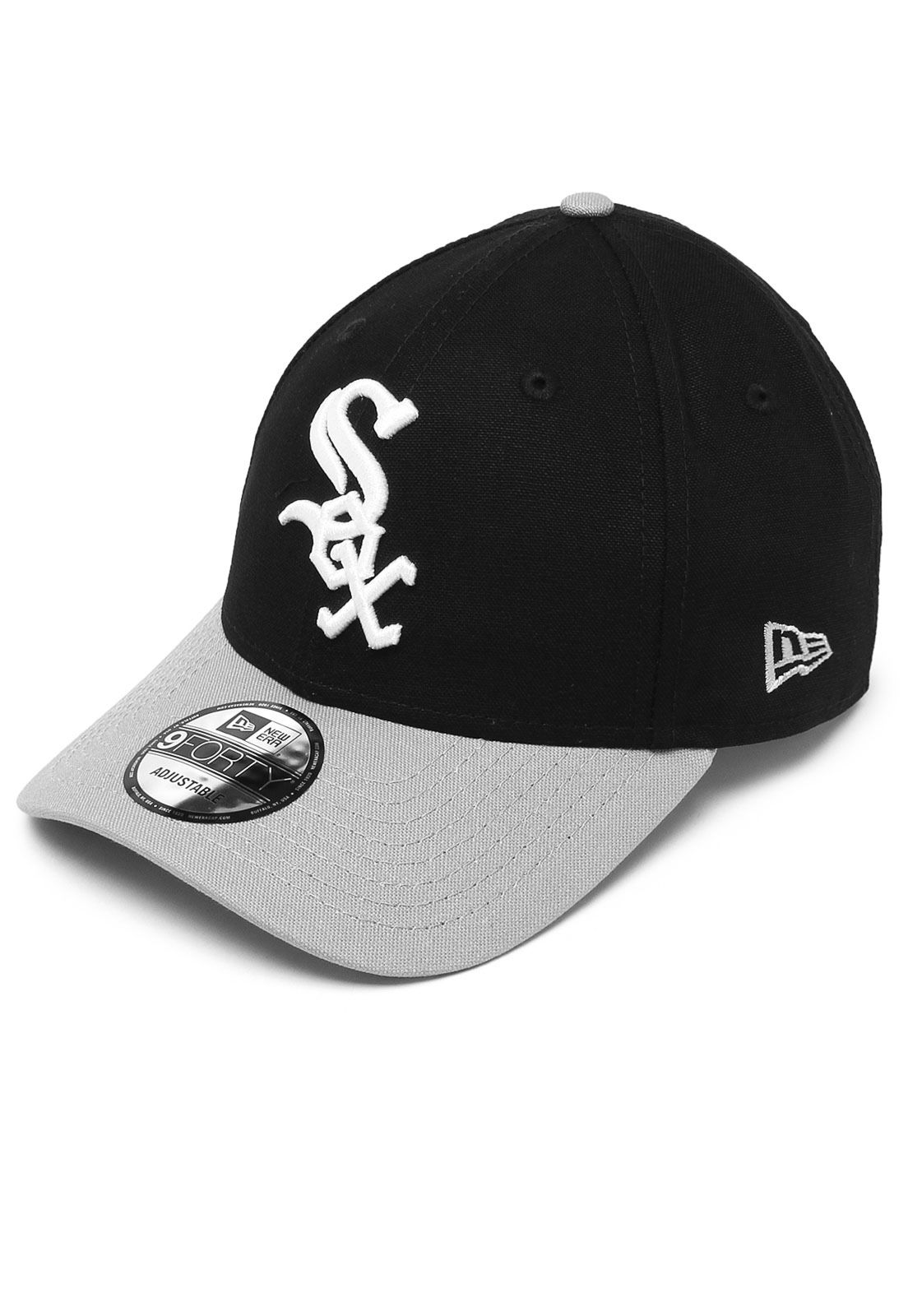 Boné New Era Snapback 940 Chicago White Sox Preto Cinza  5aad25401b4