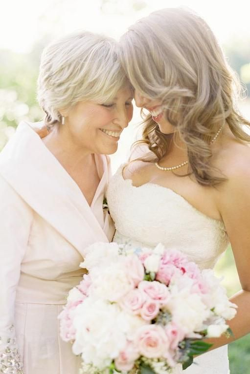 Elegant Mother Of The Bride Hairstyles Mother Daughter Wedding Photos Mother Daughter Photography Mother Daughter Wedding