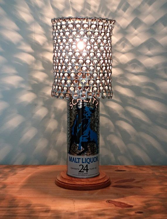 c451f3758304e Vintage Schlitz Malt Liquor Beer Can Lamp with by LicenseToCraft ...