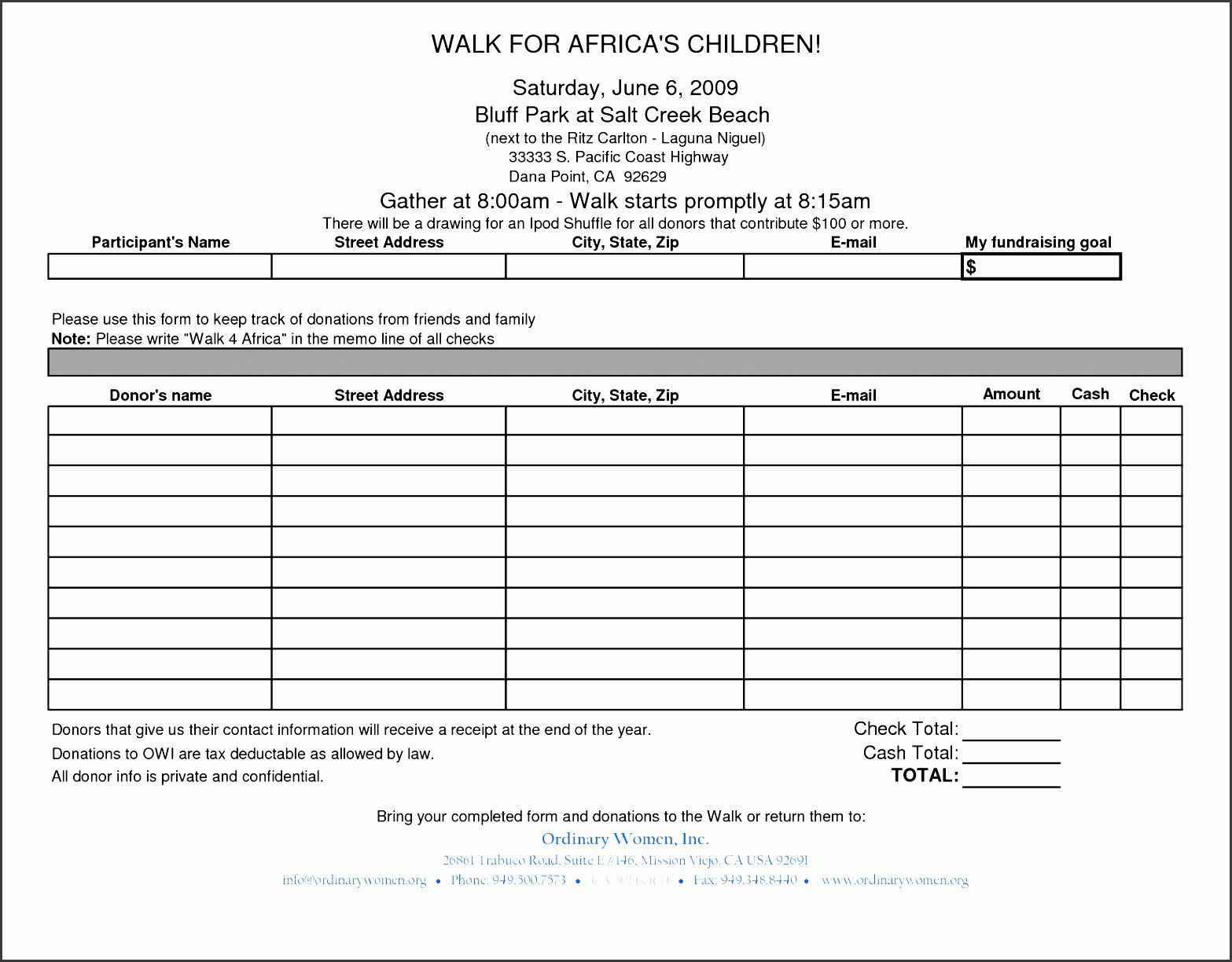 24 Tax Donation form Template in 2020 Donation form