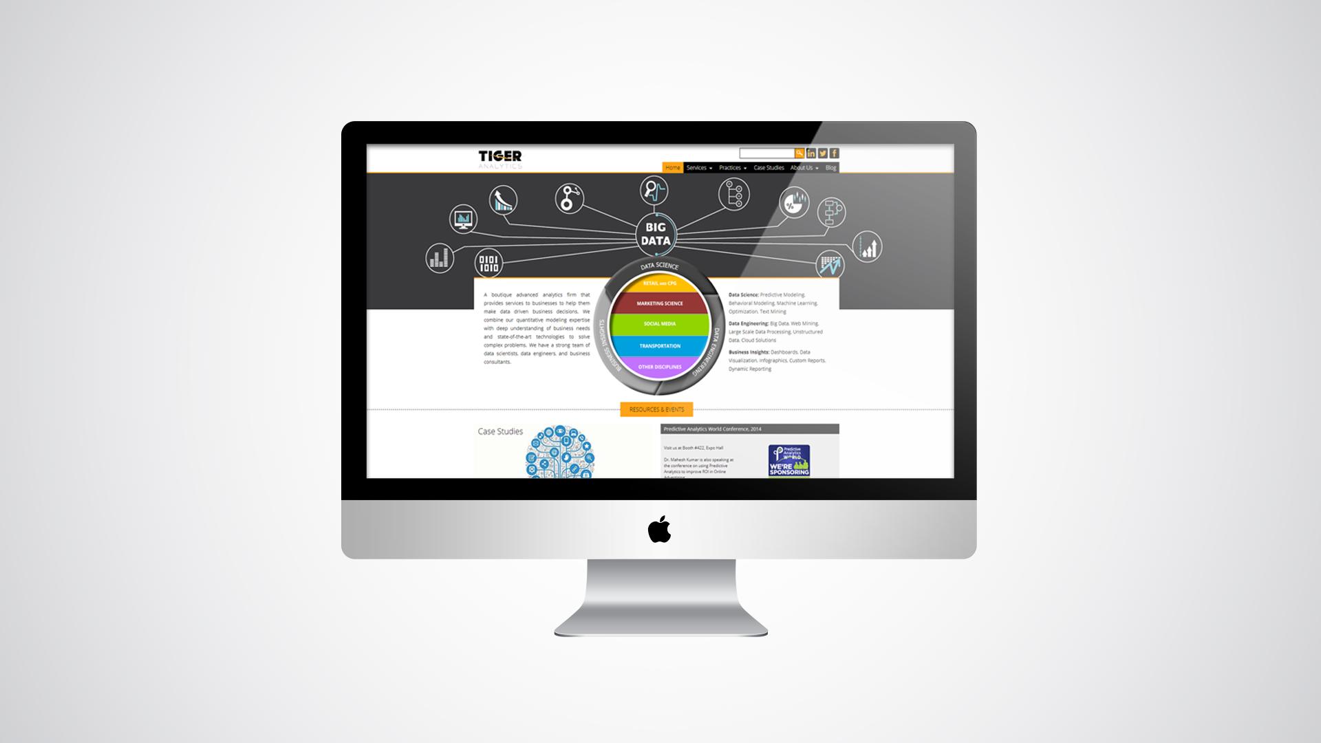 Corporate Company Drupal Website For Tiger Analytics By Webdefy Corporate Drupal Php Website Mockup Drupal Website Design