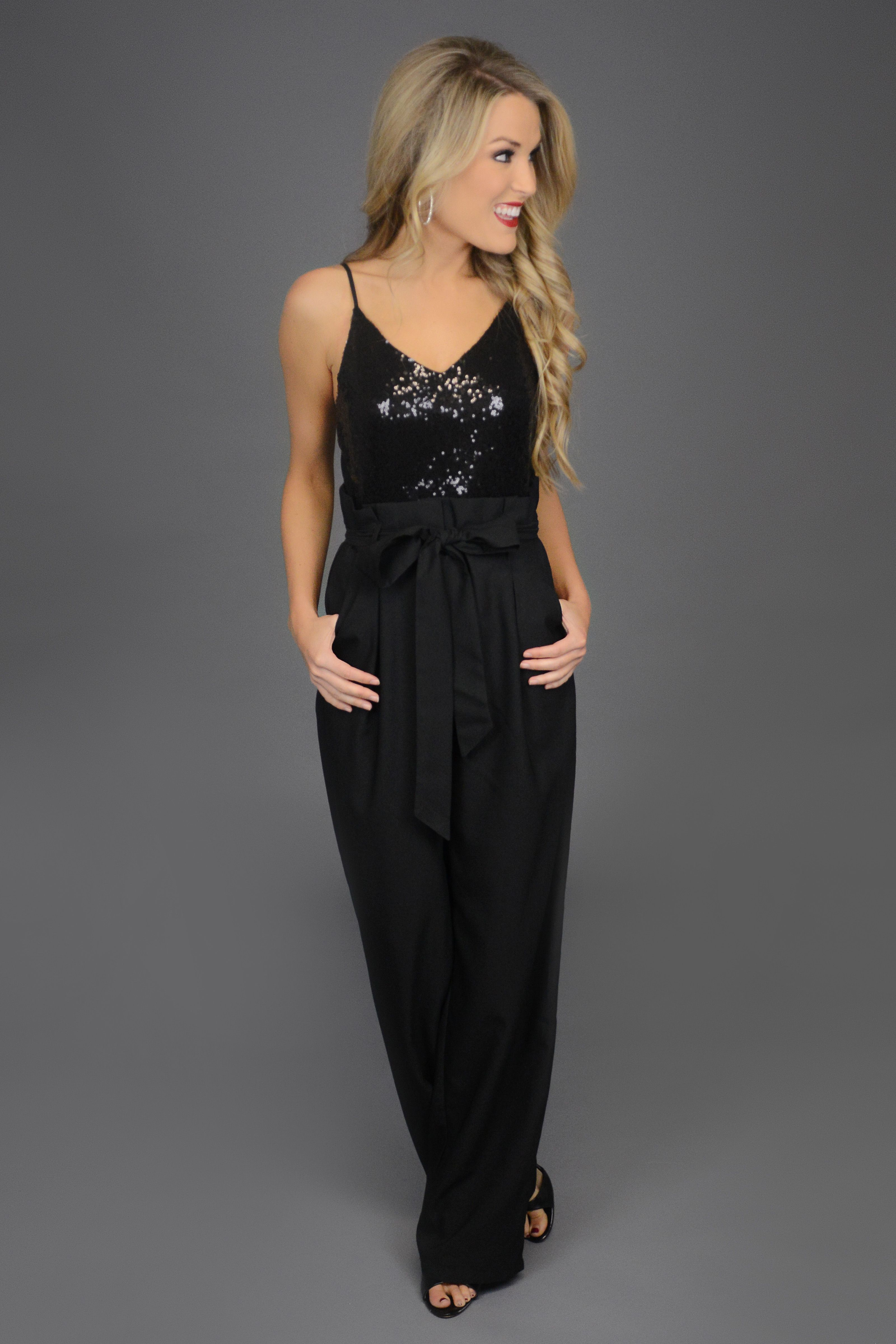 d9c4166c80b Black jumpsuit. holiday party outfit. christmas party outfit.