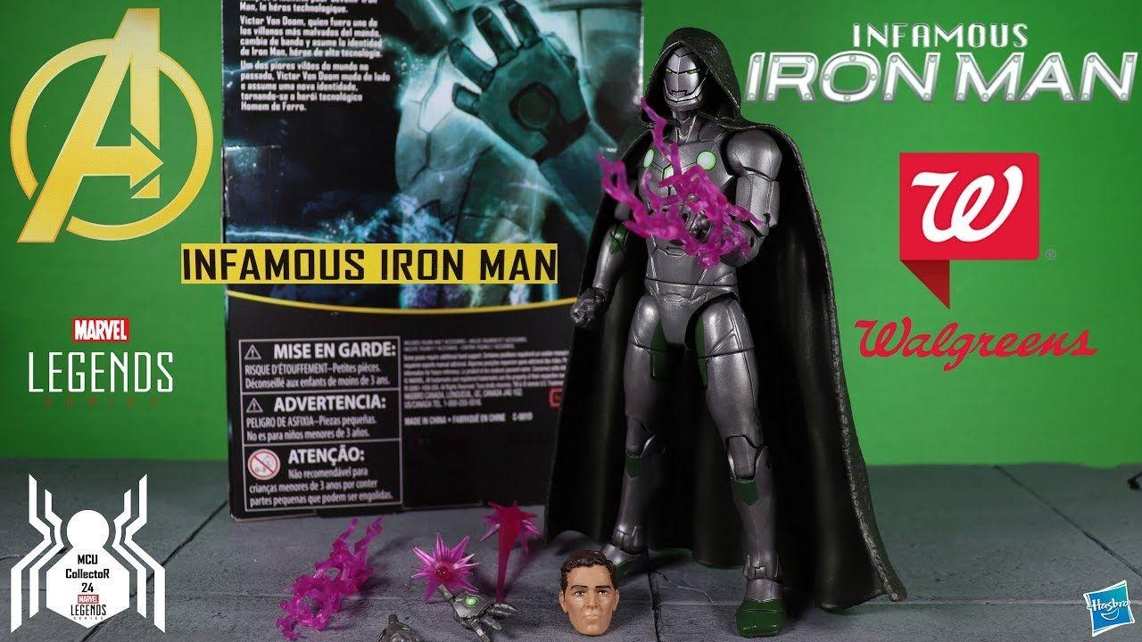 """Avengers 6/"""" Marvel Legends Dr Doom Infamous Iron Man Walgreens Exclusive"""