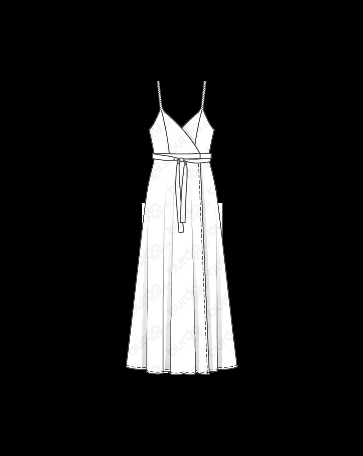 Schnittmuster Abendkleid Das Elegante Maxikleid In Wickeloptik Mit Leichtem Gehschlitz Ist Ein Hingucker Fur F Schnittmuster Abendkleid Kleider Abendkleid