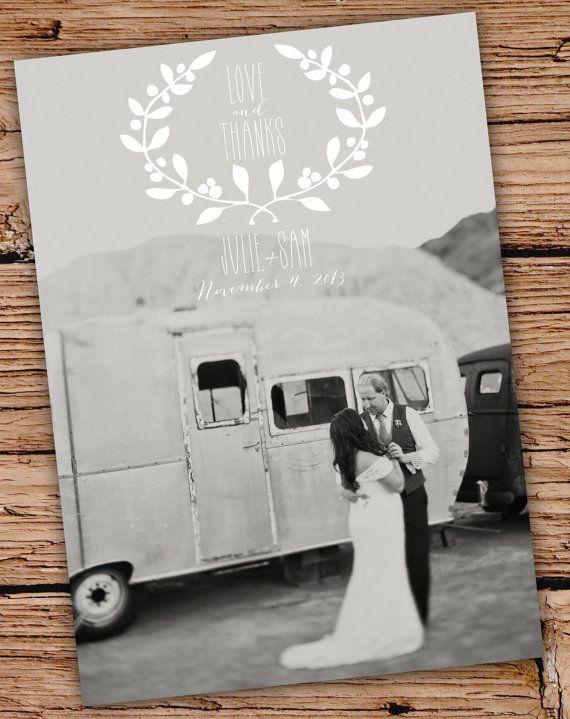 Custom Photo Wedding Thank You, Postcard, Thank You Card