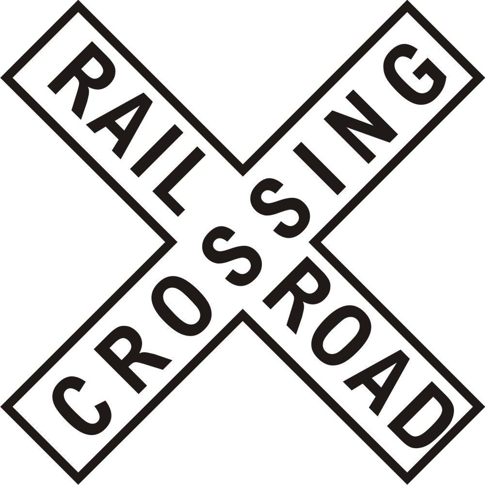 photo regarding Railroad Crossing Sign Printable titled Data concerning RAIL Highway CROSSING CROSS BUCK Indicator // Educate