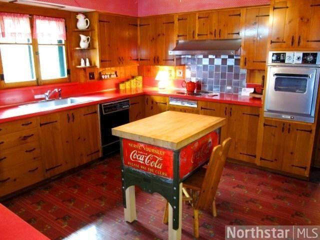 Unique Kitchen With Rustic Charm Love The Coca Cola Butcher Block