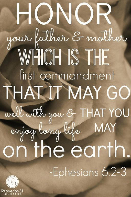 Honor Your Father And Mother Which Is The First Commandment That It