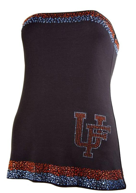 Uf Florida Gator Tube Top Black With Crystal Beading At Top And Bottom Super Cute For Those Hot Late Summer Football Games Tube Top Gator Gear Gator
