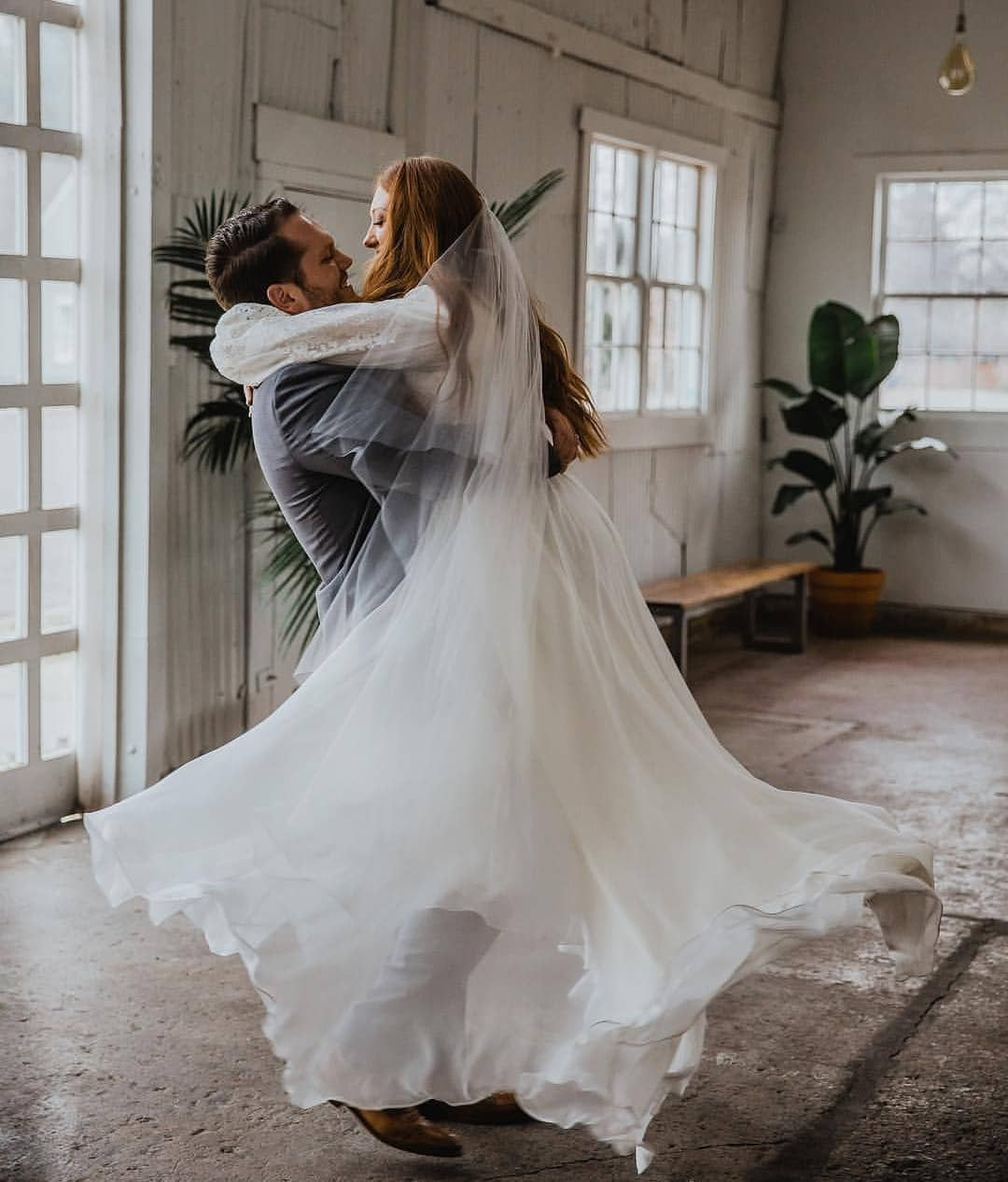d23e6af5546 Happy Wedding Day to our beautiful bride Aubree in  leannemarshallofficial.  Photo by  amandagracephotography. Modest wedding dress with bishop sleeves
