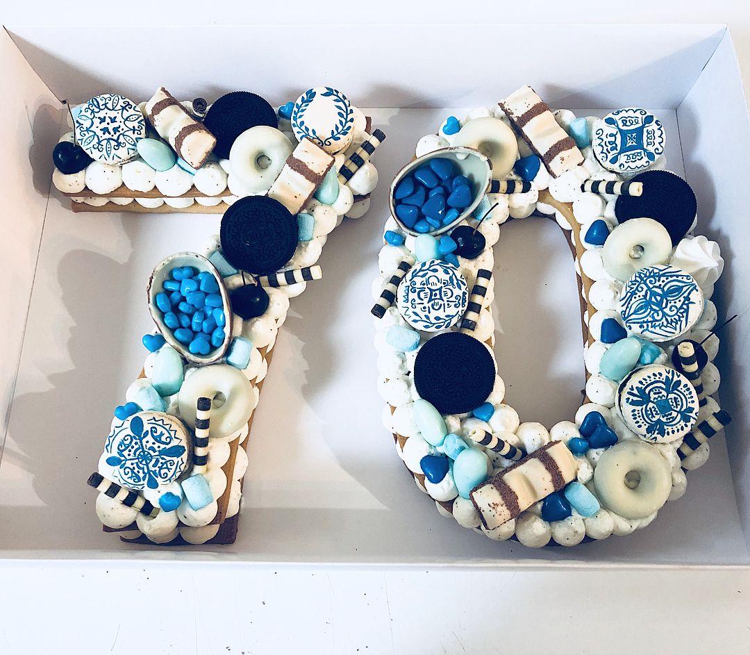 A Greek Giant Cookie Cake Happy 70 B-day