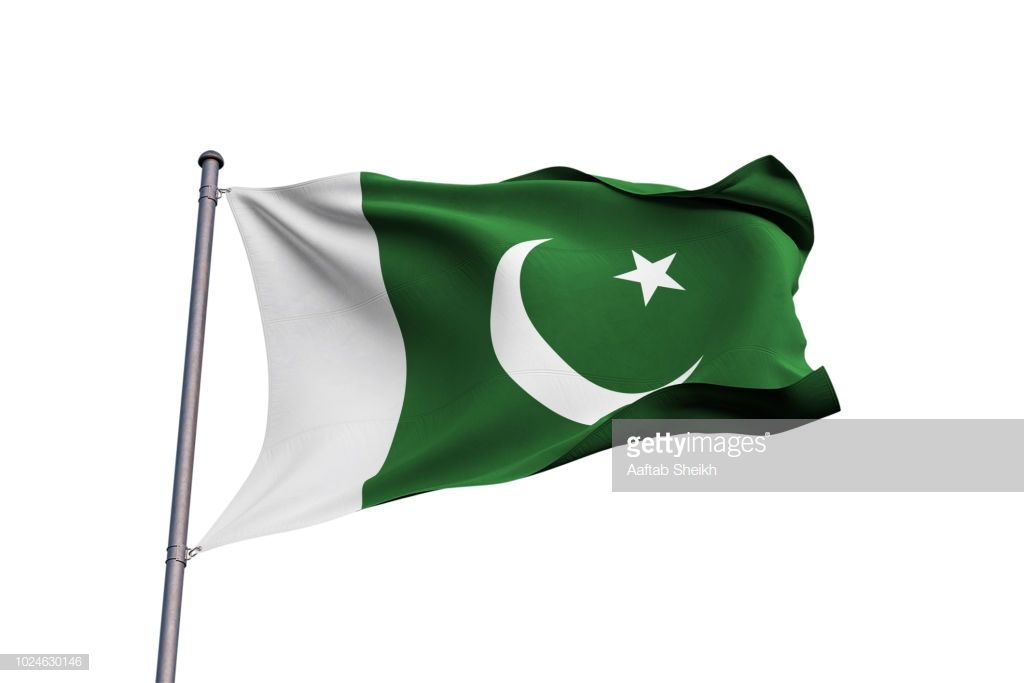 Pakistan 3d Flag Waving On White Background Pakistani Flag White Background Waves