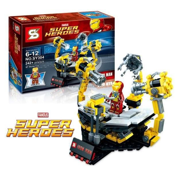 SY304 Iron Man Suit Up Gantry (Lego Compatible) | wish list