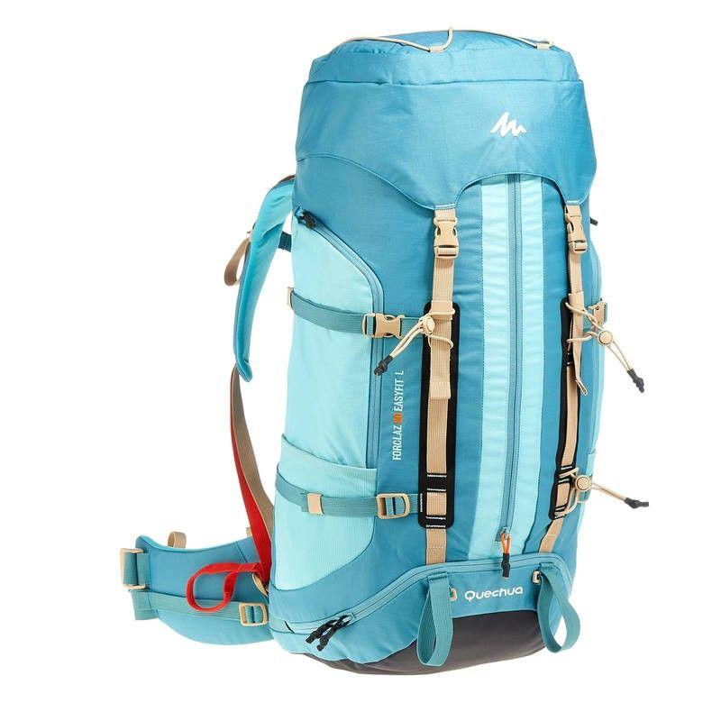 c3f6ea579ce Дамска раница за трекинг Easyfit 60 литра, синя - Decathlon