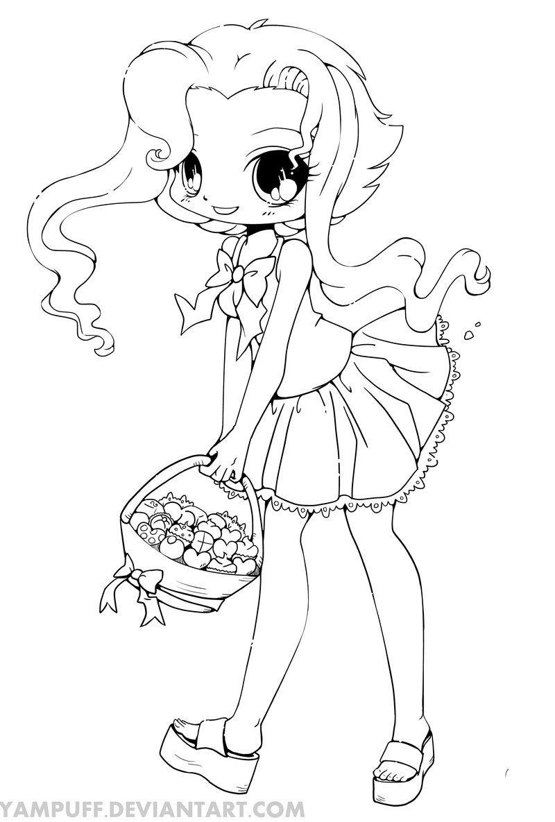 Kirika Chibi Line Art by YamPuff on deviantART Chibi