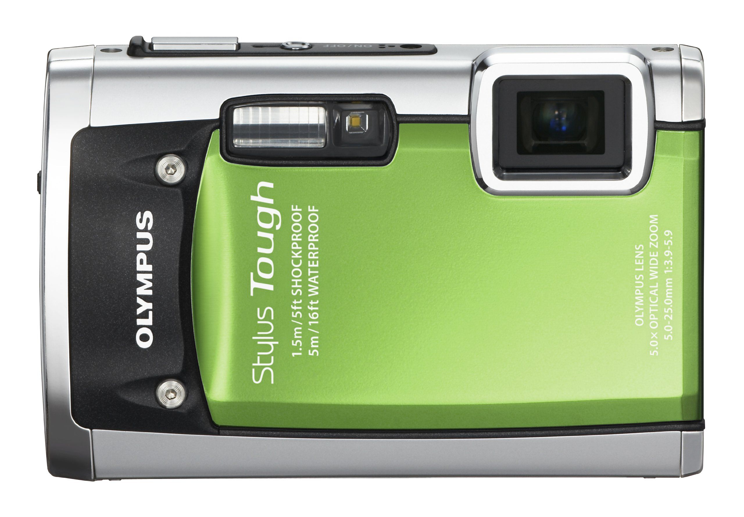 Olympus Stylus Tough 6020 14mp Digital Camera With 5x Wide Angle Zoom And 2 7 Inch Lcd Green Old Model 14 Digital Camera Underwater Camera Stylish Camera