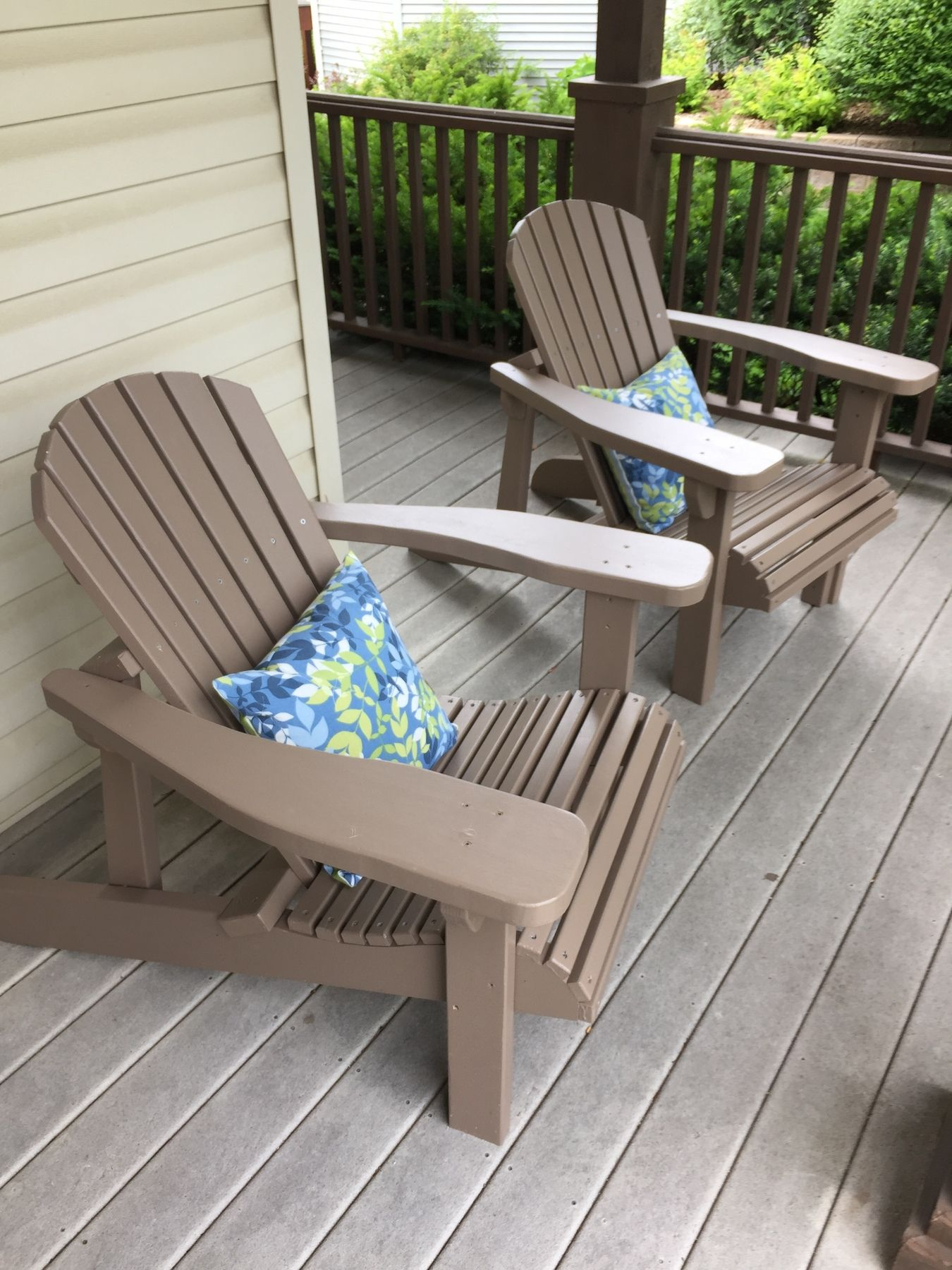 Adirondack Chair Templates With Plan And Stainless Steel Hardware