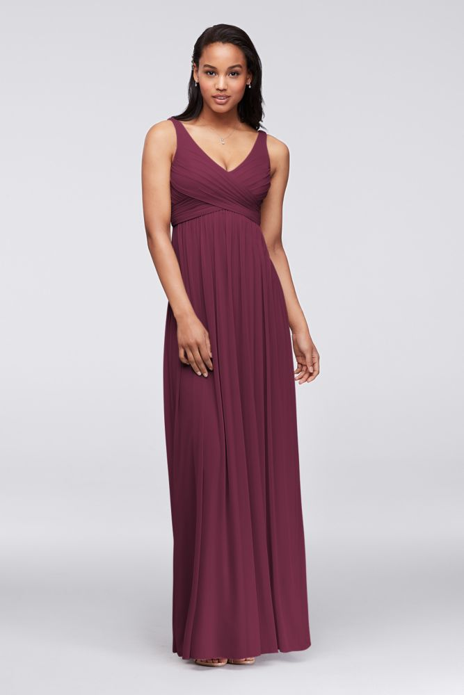 0a0bff85452 Long Mesh Dress with Cowl Back Detail Style F15933