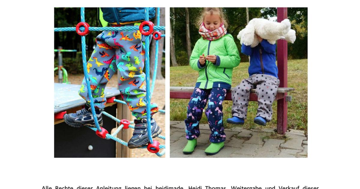 neue Season neue Season weit verbreitet Softshellhose Poseidon by heidimade.pdf | Nähen ...
