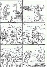 Moises Y La Zarza Ardiente Bible Drawing Sunday School Printables Bible Worksheets