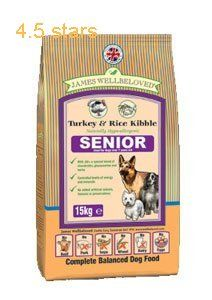 James Wellbeloved Dog Food Senior Turkey And Rice Kibble 15kg