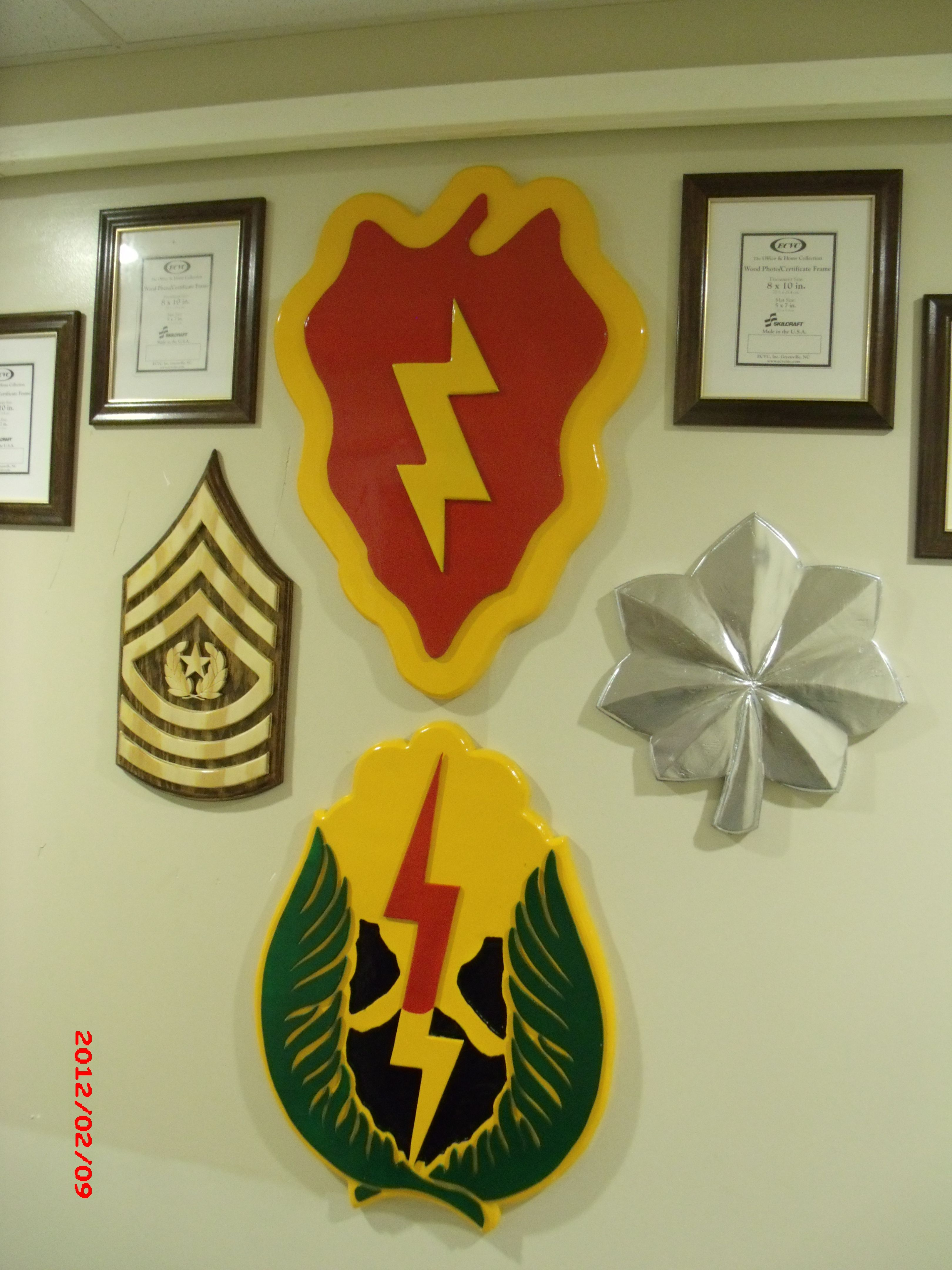 Command wall, made for my Unit in Hawaii. 25ID HHBN. Wood, military ...