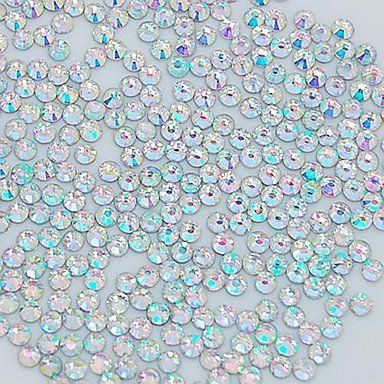 QINF 1400PCS 2MM Glitter Crystal AB Rhinestone Nail Art Decoration >>> You can find more details by visiting the image link.