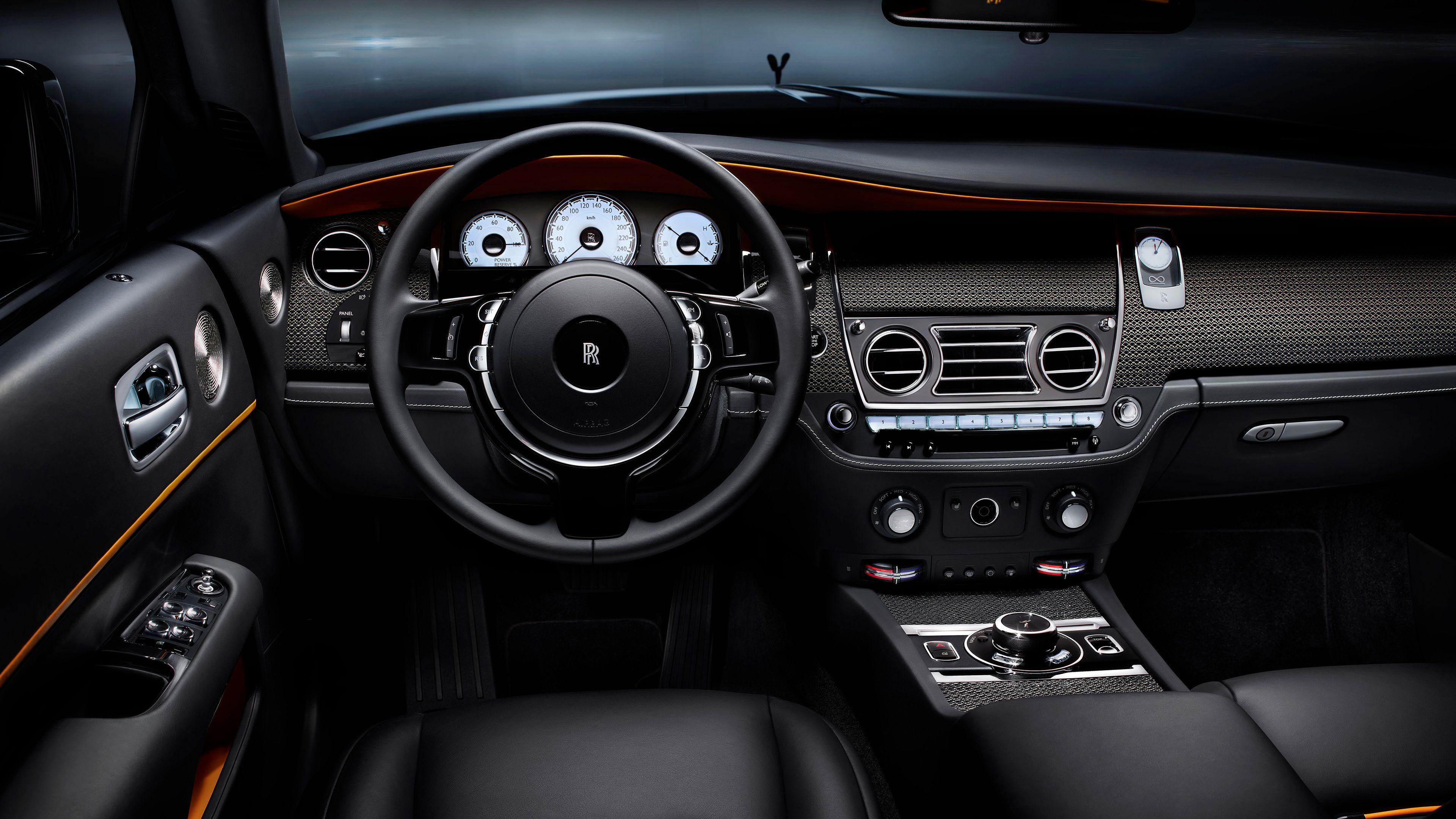 Rolls Royce Dawn Black Badge Interior 4k steering wallpapers, rolls royce wallpa…