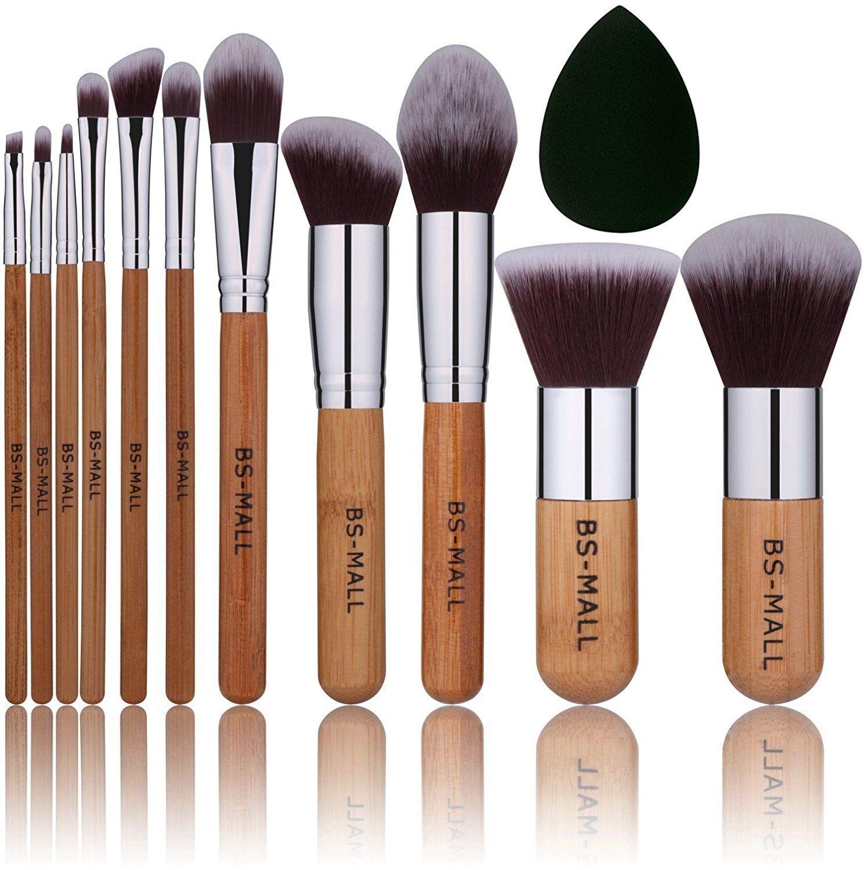 BSMALL Bamboo Silver Premium Synthetic Kabuki Makeup