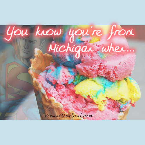 You know you're from Michigan if...   www.downwithdetroit.com