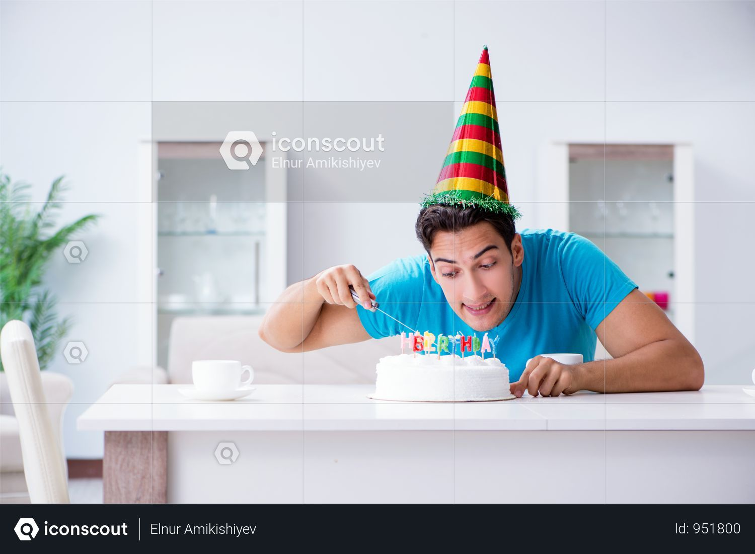 Premium Young Man Celebrating Birthday Alone At Home Photo Download In Png Jpg Format Home Photo Home Alone Birthday