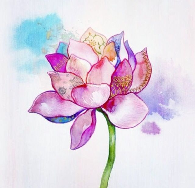 Lotus Flower Bomb Tattoos And Piercings Watercolor Lotus Lotus