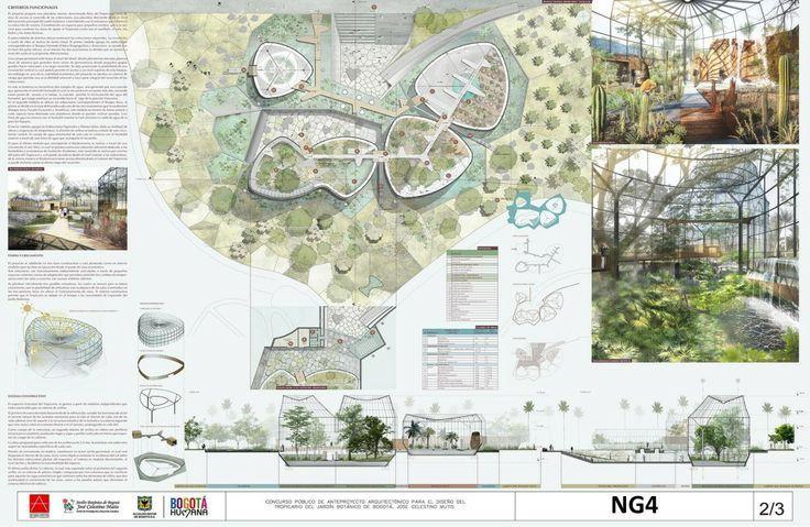 Laminas ganadoras concurso arquitectura buscar con for Actividades jardin botanico bogota
