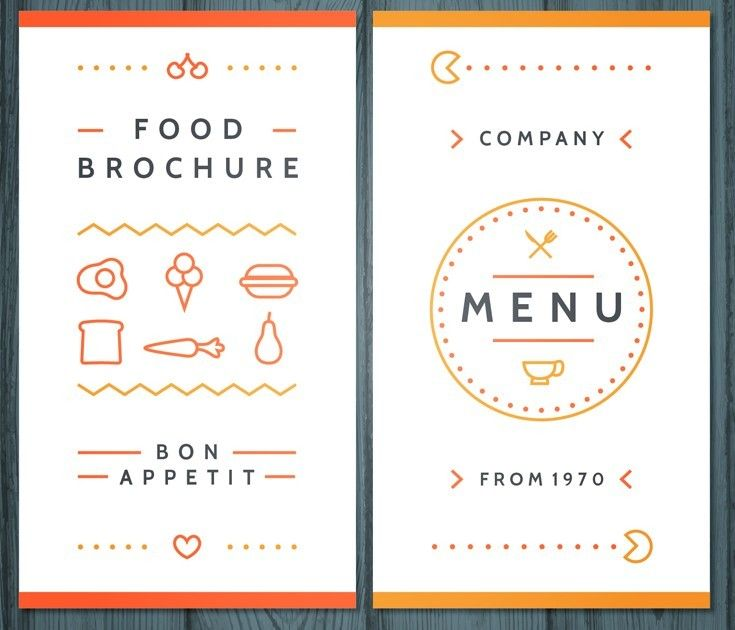 reative Food Brochure Template Vector Free Web\/Graphic Design - food brochure