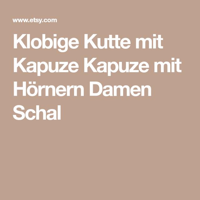 Klobige Kutte mit Kapuze Kapuze mit Hörnern Damen Schal | stricken ...