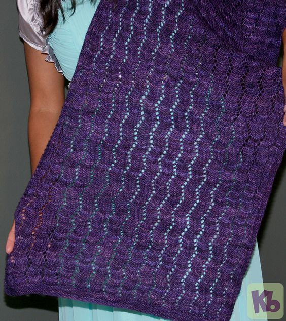 Zig zag shawl loom knit pattern.   Knitting Knitting - The Sissy Way ...