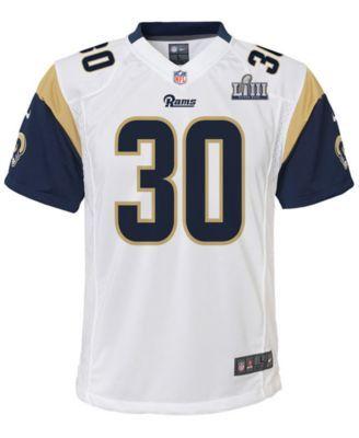 Nike Big Boys Todd Gurley Los Angeles Rams Super Bowl Liii Patch Jersey White S Macys Shopping Big Boys