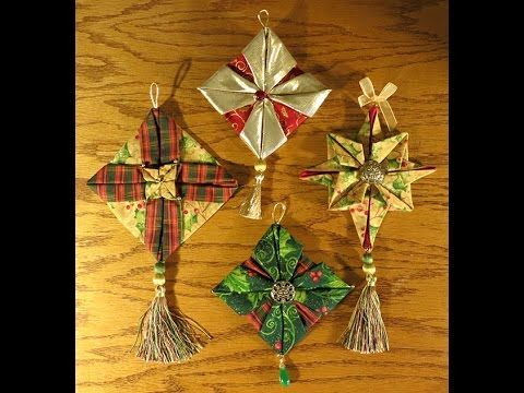 DIY- FABRIC FOLDED etc ORNAMENTS
