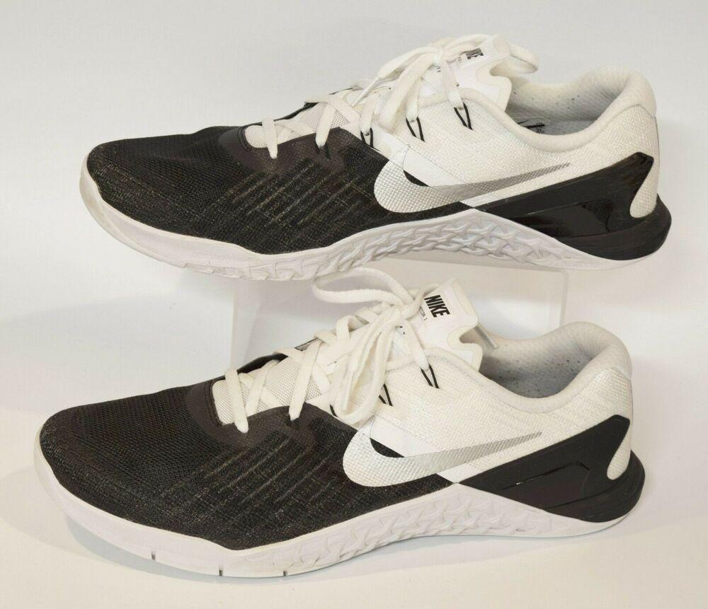 77389b46e5b3ab NIKE Men s Metcon 3 Training Shoe 852928-005 Black White Silver Size 13  Sneaker  Nike  Athletic