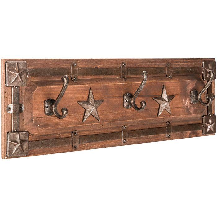 Brown Western Star Coat Rack
