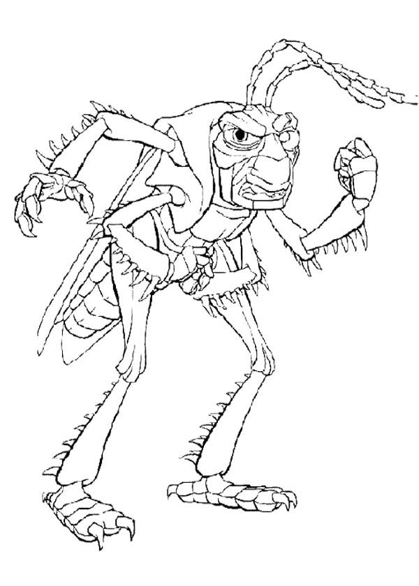 The Enemy Bugs Life Coloring Page | Disney Bugs Life Coloring Page ...